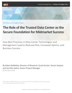 The Role of the Trusted Data Center as the Secure Foundation for Midmarket Success