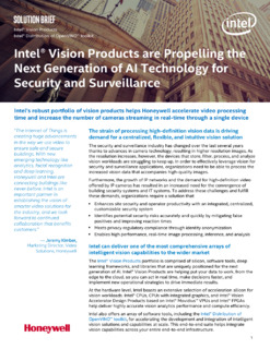 Intel® Vision Products are Propelling the Next Generation of AI Security and Surveillance Technology