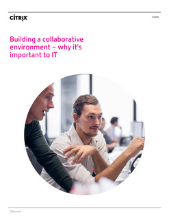 Building a Collaborative Work Environment – Why It's Important to IT