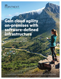 Gain cloud agility with software-defined infrastructure