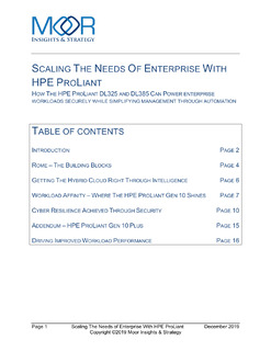 Moor Insights: Scaling the Needs of Enterprise with HPE ProLiant