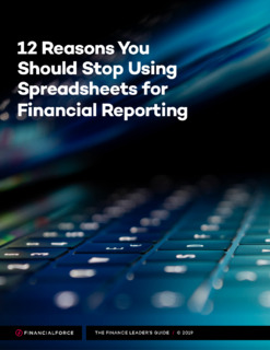 12 Reasons You Should Stop Using Spreadsheets for Financial Reporting eBook