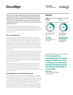 Tidewell Hospice Case Study