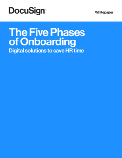 The Five Phases of Onboarding