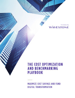 The Cost Optimization and Benchmarking Playbook