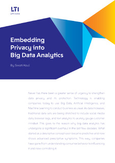 Embedding Privacy into Big Data Analytics