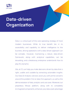 Our data-centric approach has enabled several breakaway enterprises
