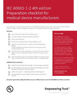 IEC 60601-1-2 4th Edition Preparation Checklist for Medical Device Manufacturers