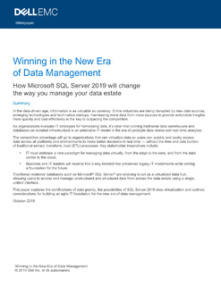 Winning in the New Era of Data Management