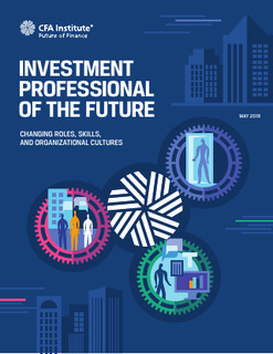 What will investment professionals of the future need to know?