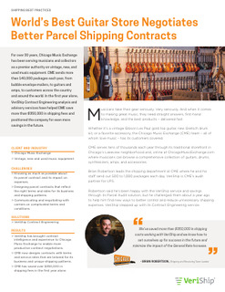 Case Study: World's Best Guitar Store Negotiates Better Parcel Shipping Rates