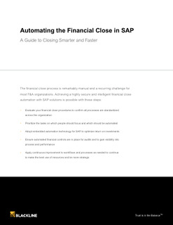 Automating the Financial Close in SAP: A Guide to Closing Smarter and Faster