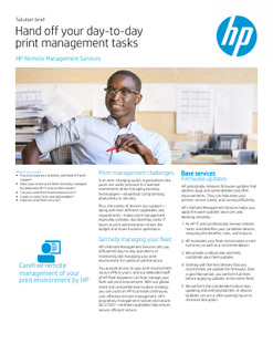 Hand off your day-to-day print management tasks
