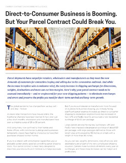 Direct-to-Consumer Business is Booming. But Your Parcel Contract Could Break You.