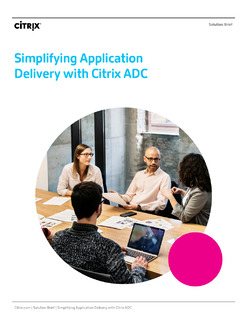 Simplifying Application Delivery with Citrix ADC