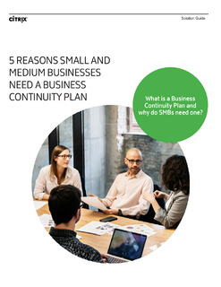 5 Reasons SMBs Need a Business Continuity Plan