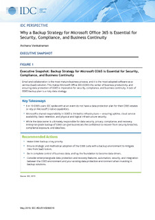 IDC Perspective – Why a Backup Strategy for Microsoft Office 365 is Essential