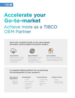 Accelerate your Go-to-market – Achieve more as a TIBCO OEM Partner