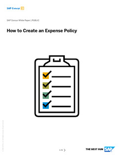 Tips for Creating an Expense Policy