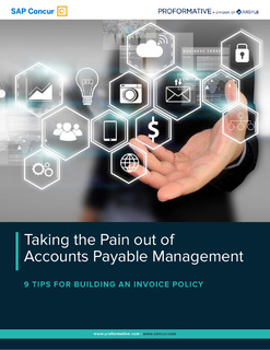 Taking the Pain out of Accounts Payable Management 9 Tips For Building An Invoice Policy