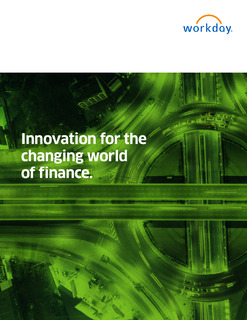 Innovation for the Changing World of Finance