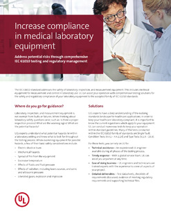 Increase compliance in medical laboratory equipment