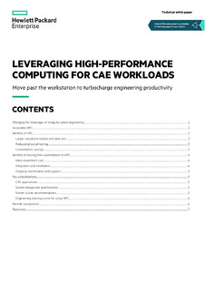 Leveraging high-performance computing for CAE workloads