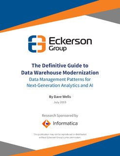 Eckerson Guide to Data Warehouse Modernization