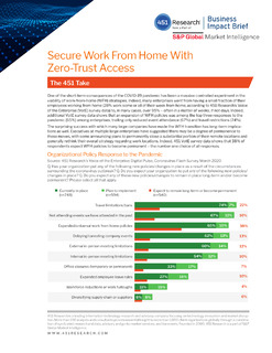 Secure Work From Home with Zero Trust Access: 451 Research Business Impact Brief