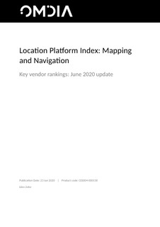Omdia – Location Platform Index: Mapping and Navigation