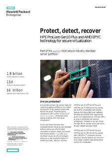 Protect, detect, recover: HPE ProLiant Gen10 Plus and AMD EPYC technology for secure virtualization