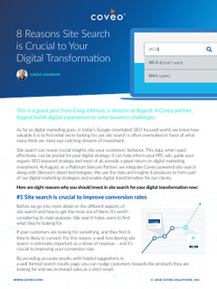 8 Reasons Site Search is Crucial to Your Digital Transformation