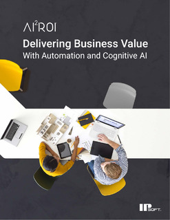 AI2ROI: Delivering Business Value with Automation and Cognitive AI