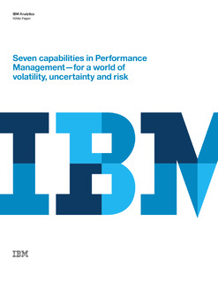 Seven Capabilities in Performance Management – for a World of Volatility, Uncertainty and Risk