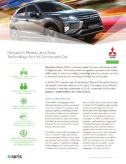 Mitsubishi Motors and Aeris: Technology for the Connected Car