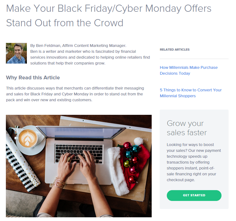 Make Your Black Friday/Cyber Monday Offers Stand Out from the Crowd