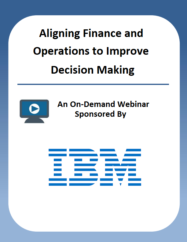 Aligning Finance and Operations to Improve Decision Making