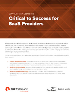 Why All-Flash Storage is Critical to Success for SaaS Providers