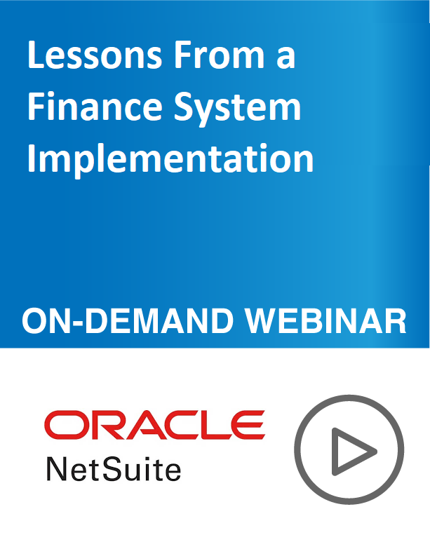 Lessons From a Finance System Implementation
