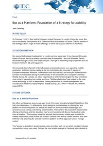 Box as a Platform: Foundation of a Strategy for Mobility