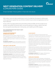 Next Generation Content Delivery (CDN) Buyers Guide