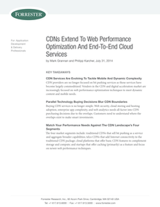 CDNs Extend to Web Performance Optimization and End-to-End Cloud Services