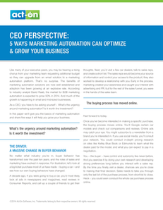 CEO Perspective: 5 Ways Marketing Automation Can Optimize & Grow Your Business