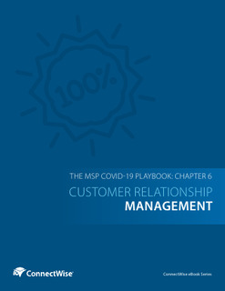 The MSP COVID-19 Playbook: Chapter 6 – Customer Relationship Management