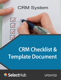 CRM Selection Checklist & Template for 2020