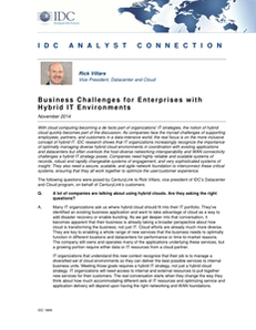 IDC Report: 5 Business Challenges for Hybrid IT