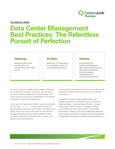 Data Center Management Best Practices Brief
