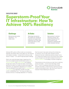 SuperStorm Proof Your IT Infrastructure