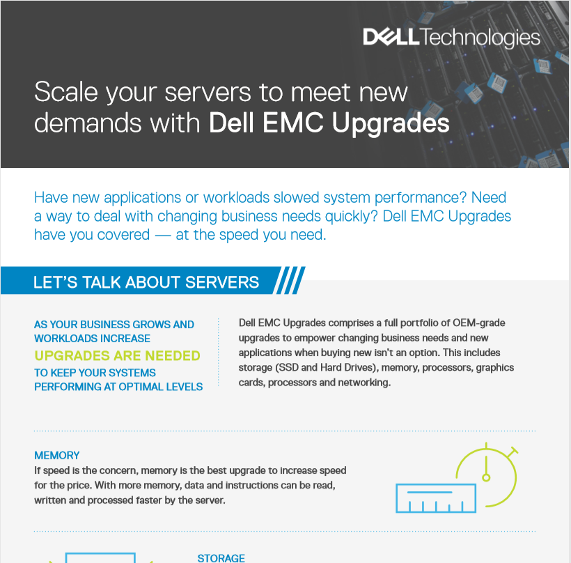 Scale your servers to meet new demands with Dell EMC Upgrades