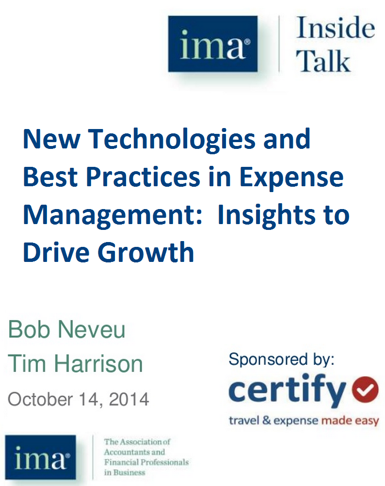 New Technologies and Best Practices in Expense Management: Insights to Drive Growth